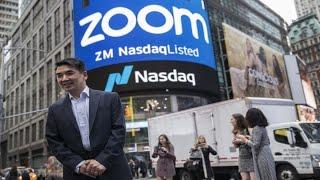 Zoom begins trading at the Nasdaq
