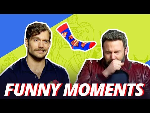 BEN AFFLECK IS ALLERGIC TO SUPERMAN SOCKS - Funny Moments