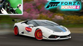homepage tile video photo for Drifting SteveWillDoIt's Lambo / Forza Horizon 4 / Wheel Cam / ULTRA GRAPHICS
