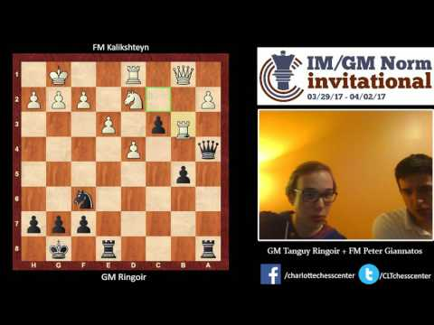 Round 1: GM Ringoir victory over FM Kalikshteyn