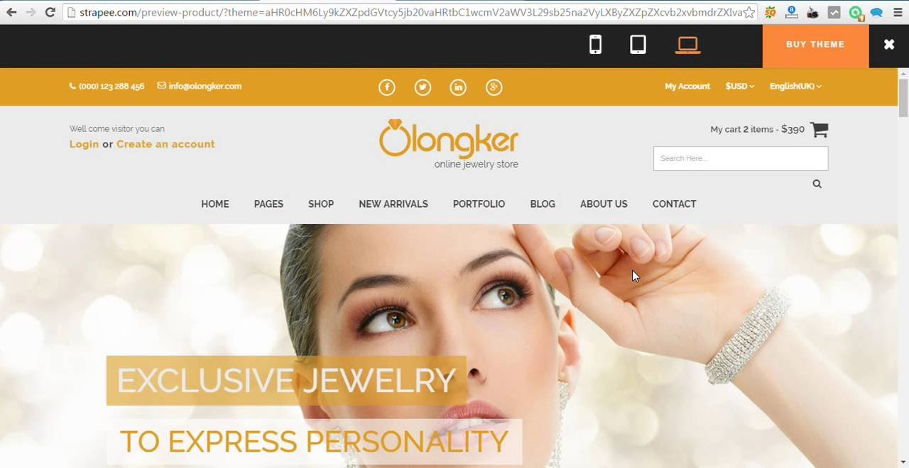 Olonkar – Free eCommerce Bootstrap Template - YouTube
