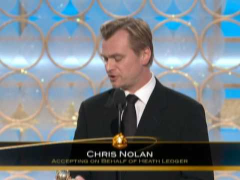 Heath Ledger Wins Best Supporting Actor Motion Picture - Golden Globes 2009