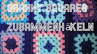 Granny Squares Zusammen Häkeln Mit Festen Maschen By Carolines Welt