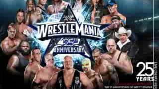 WWE WrestleMania 25 Official Theme Shoot To Thrill Live by AC DC