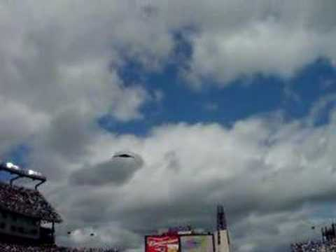 Stealth Bomber over Gillette Stadium
