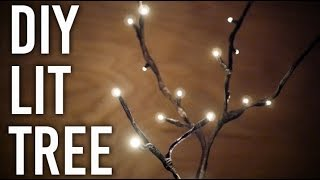 How To Make Lit Tree : DIY : Perfect Holiday Decor!