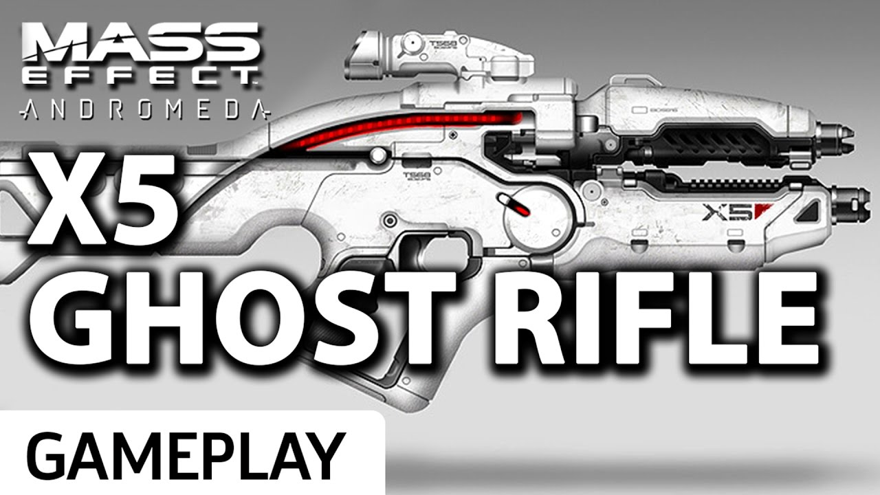 X5 Ghost Mass Effect Andromeda: New Ghost Rifle Gameplay
