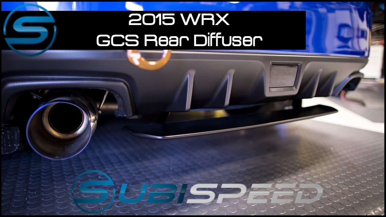 Subispeed 2015 Wrx Amp Sti Gcs Oem Style Rear Diffuser