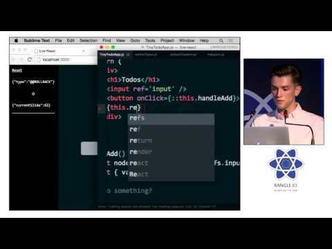 Dan Abramov - Live React: Hot Reloading with Time Travel at react-europe 2015