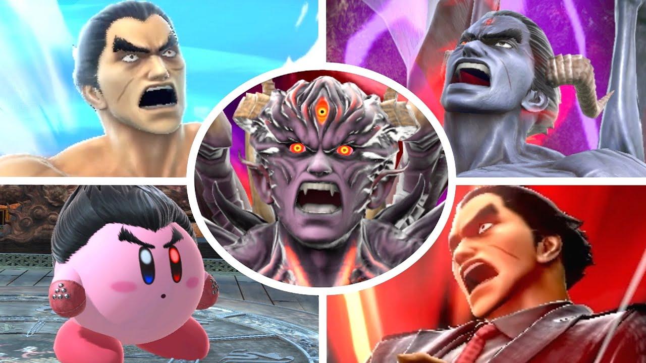 Kazuya All Victory Poses, Final Smash, Kirby Hat & Palutena Guidance in Smash Bros Ultimate