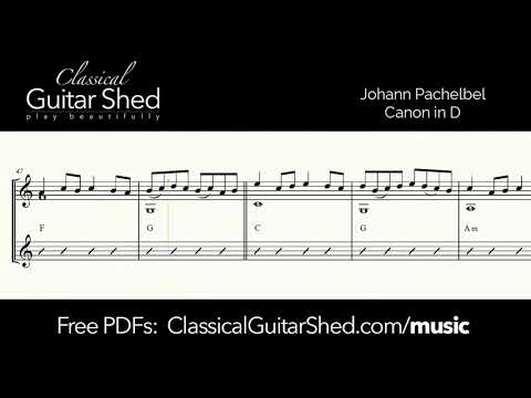 Pachelbel: Canon in D - Free sheet music and TABS for classical guitar