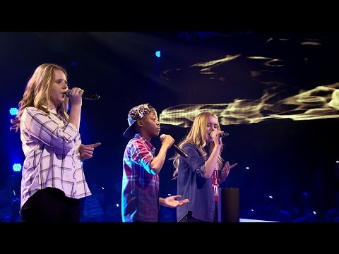 Samuel, Kato & Anke – 'Flashlight' & 'Rain' | Battle | The Voice Kids | VTM