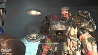 Fallout 4 playthrough pt19 - Follow That Paladin Enter The Synths