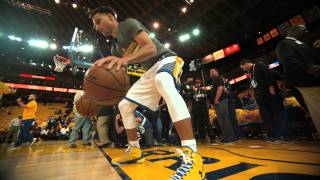 Steph Curry Pregame Dribbling Routine in 120fps