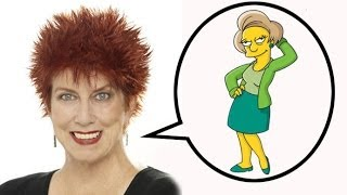 Marcia Wallace and Edna Krabappel