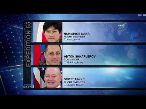 LIVE: Expedition 55 crew docking and boarding the International Space Station