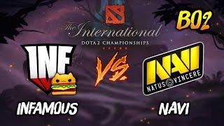 Infamous Gaming vs NAVI ► The International Dota 2 2019 ( TI9 Day 2 ) 😎 | dota 2