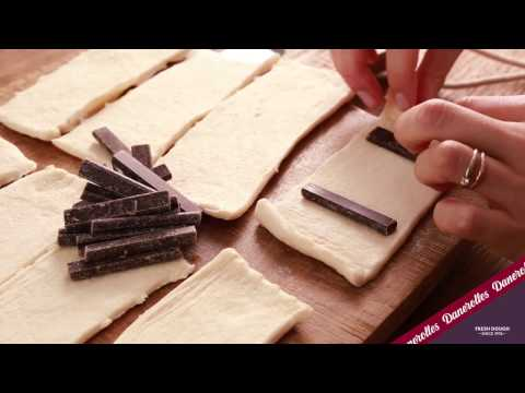 Instruction video: How to roll Danerolles Pains au Chocolat