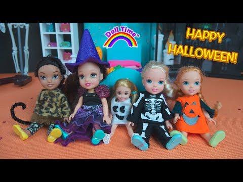 Halloween Costumes! Elsa Anna Toddlers Halloween Party Chelsea – Miraculous Ladybug Pumpkins Ghosts