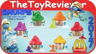 2017 Смурфики втратив село Макдональдс Хеппі повний комплект 6 розпакування огляд іграшки TheToyReviewer