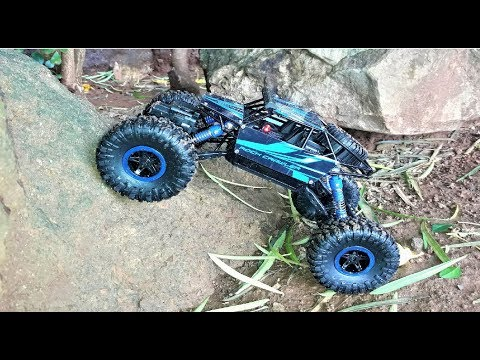 b764387441 Remote Control Monster Truck | RC Rock Crawler 1:18 Scale 4WD Rally Car |  Unboxing & Testing - YouTube