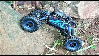 Remote Control Monster Truck | RC Rock Crawler 1:18 Scale 4WD Rally Car | Unboxing & Testing