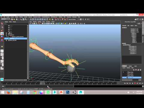 Point Constraint - Character Holding and Releasing Objects - (AutodeskMaya)