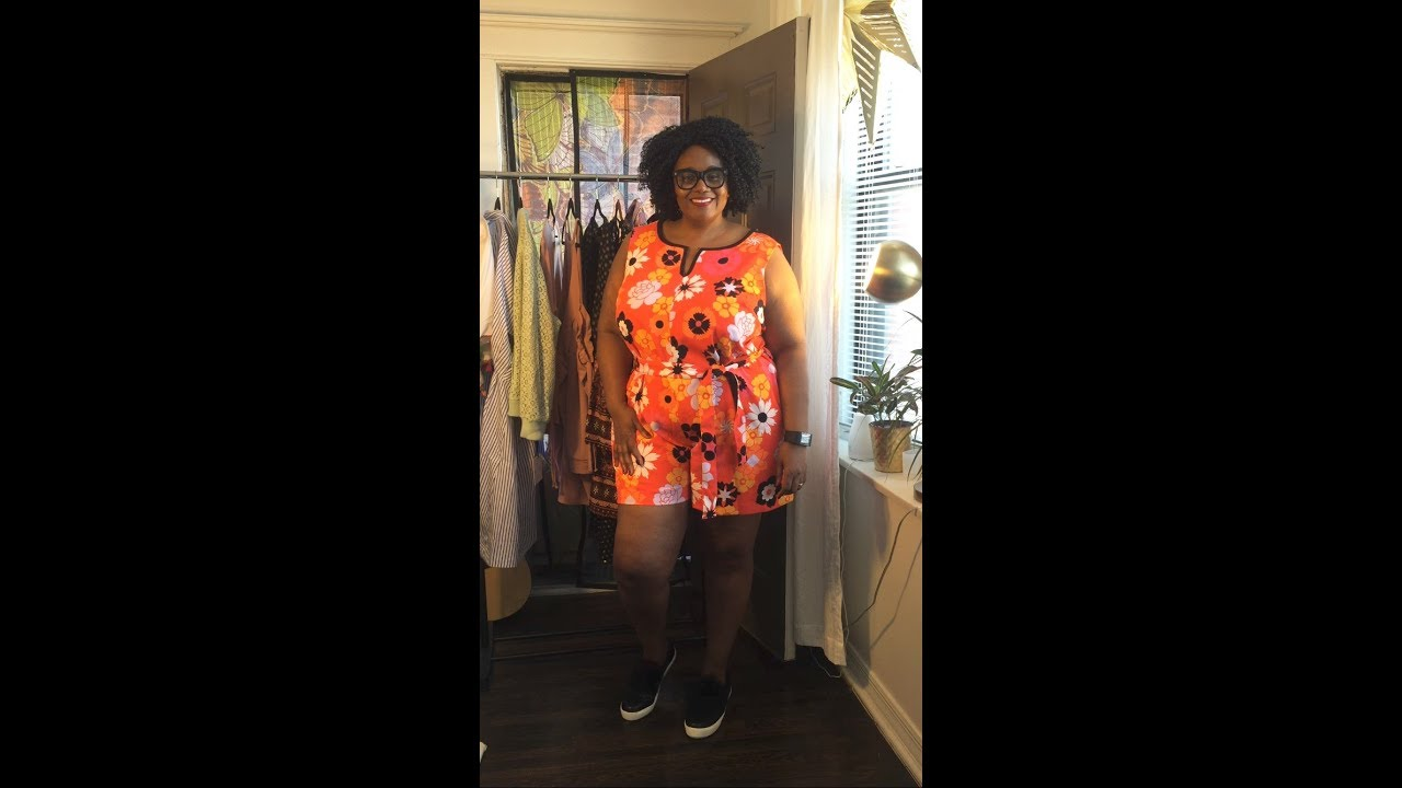 f4985c10864f Plus Size Victoria Beckham For Target Retro Print Romper - YouTube