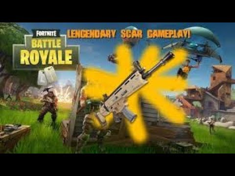 Fortnite: Battle Royale- LEGENDARY SCAR RIGHT AWAY!!