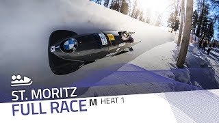 St. Moritz | BMW IBSF World Cup 2017/2018 - 2-Man Bobsleigh Heat 1 | IBSF Official