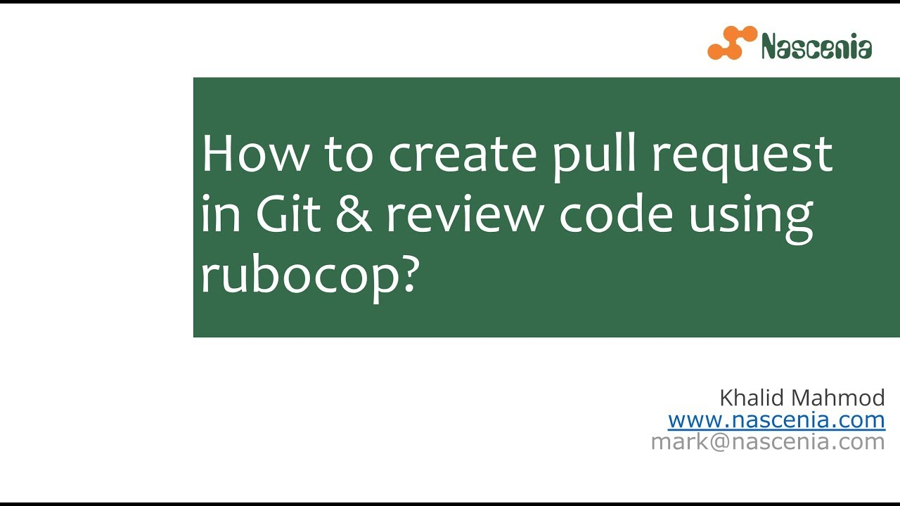 How to create pull request in Git and review code in rubocop