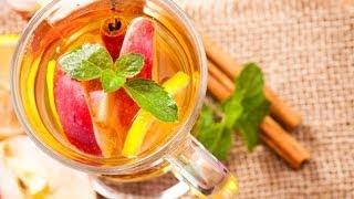 Чай с яблоками и корицей