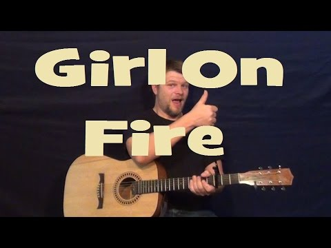 how to play i see fire on guitar easy