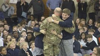 Welcome Home Soldier Surprise Homecoming Compilation 11