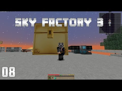 Sky Factory 3 EP8 Colossal Chest + Refined Storage