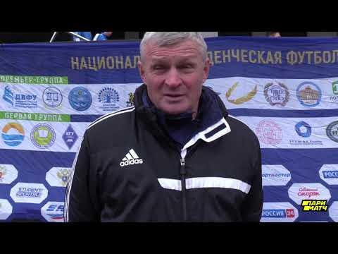 Главный тренер СПбГУ Владимир Григорьев после матча СПбГУ - МГПУ (1:4)