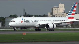 American Airlines Boeing 787-9 N820AL Landing at NRT 34R