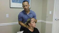 Chiropractic Adjustment for WHIPLASH from CAR ACCIDENT!!!!!