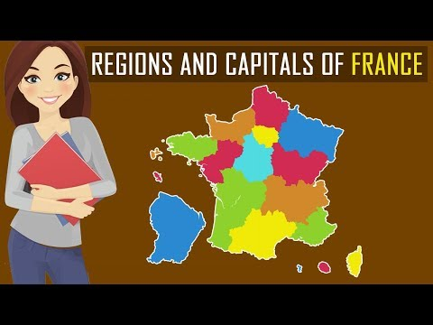 Learn Regions And Capitals Of France | Country Map Of France | Geography For Students
