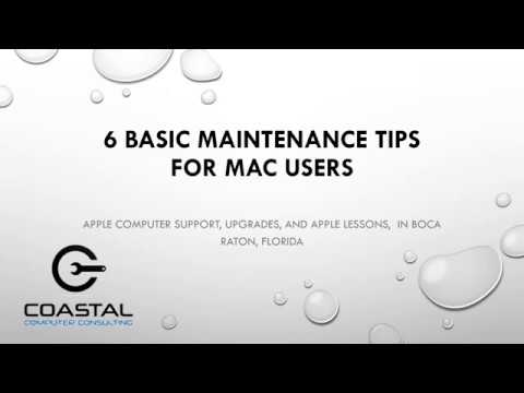 6 Basic Maintenance Tips for Mac Users | Coastal Computers | Boca Raton, FL