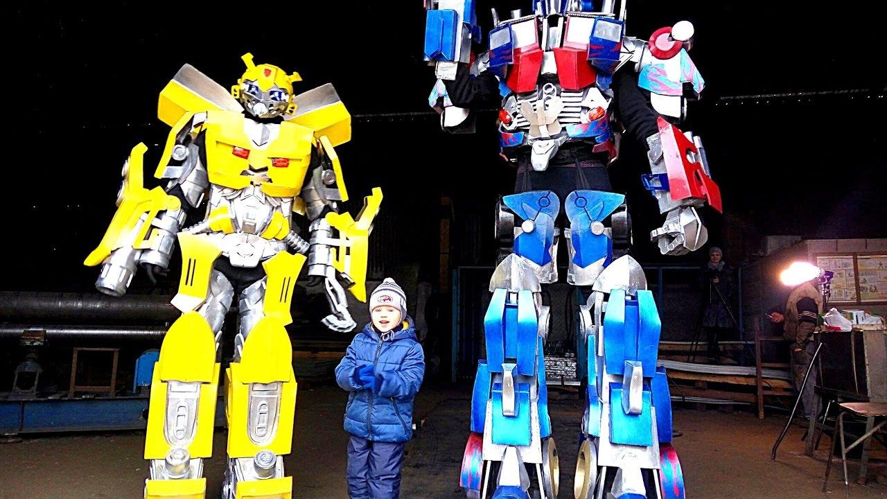 Приключения Трансформеров! Автоботы #Бамблби и Оптимус Прайм! Трансформерыпрайм Роботы для детей