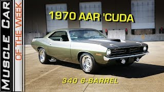1970 AAR Cuda 340 Video: Muscle Car Of The Week Episode 255 V8TV