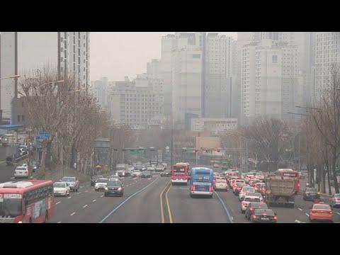 수도권 미세먼지 저감조치 또 발령…내일 공공차량 2부제 / 연합뉴스TV (YonhapnewsTV)