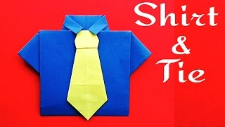 Shirt and Neck Tie 👔 (No glue required) -for Father's day - DIY Origami Tutorial by Paper Folds
