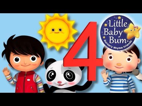 Numbers Song | Number 4 | Nursery Rhymes | Original Song By LittleBabyBum!