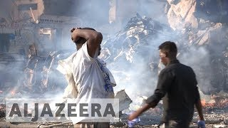 Somalia: Mogadishu rocked by twin bomb blasts, dozens killed thumbnail
