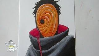 How to draw Tobi トビ (うちはオビト)