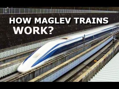 how magnetically levitated trains work Magnetically levitated trains  maglev don't use steel wheel on steel rail usually associated with trains,  the construction work of a 7-km.