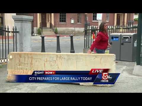 Security precautions around Boston Common for rallies
