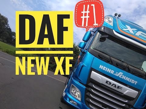 The new DAF XF test #1